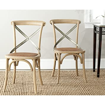 safavieh american home collection eleanor weathered oak dining chair set of 2