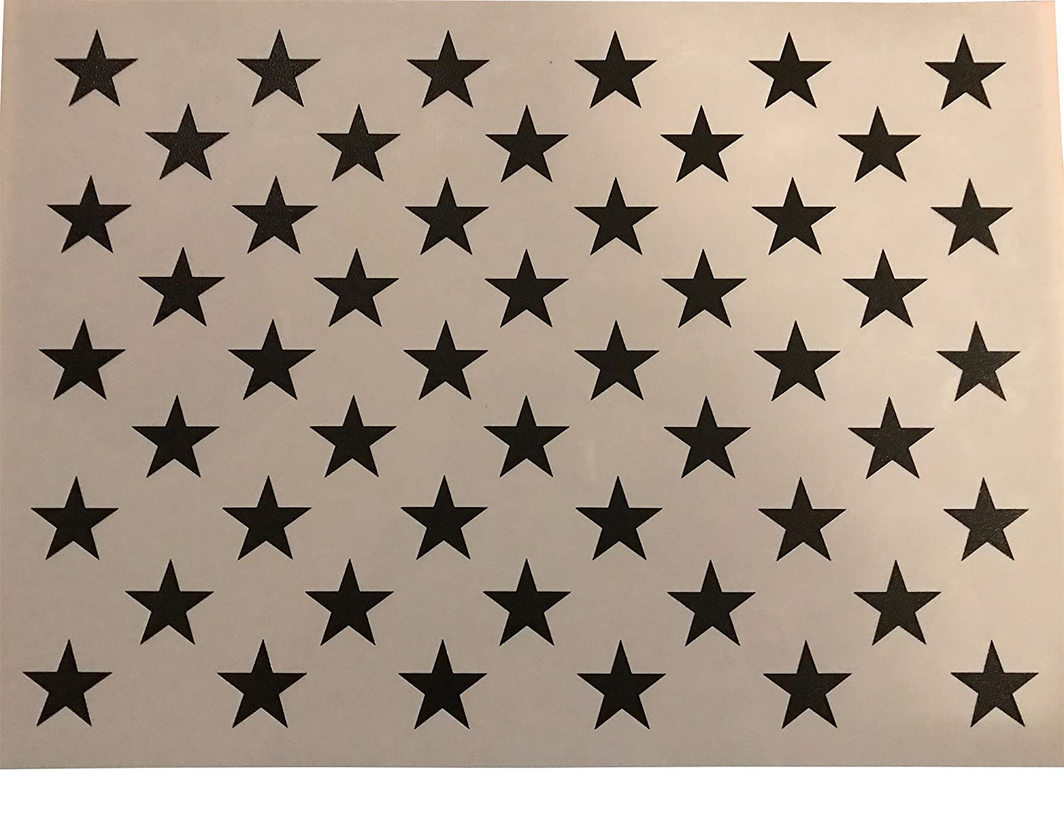 graphic regarding 50 Star Stencil Printable identify 50 Star Stencil Template 10.5 X 15 (real dimensions 10.5 X 14.82) for producing Picket American Flags and Wall Stencils. Built versus Thick Reusable 14mil Mylar