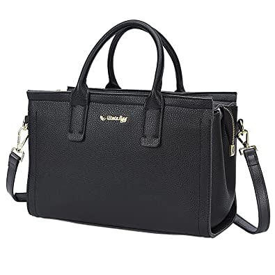 35c8d2f0883f8 Amazon.com: Utotebag Women Top Handle Satchel Tote bag Shoulder Bags HandBag  Work Purse Crossbody Bag (Black): Shoes