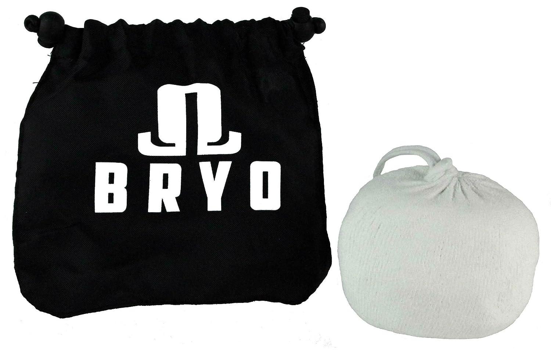BRYO Calcetín para el hombre - carbonato de magnesio con bolsa de almacenamiento para secarse las manos 3 onzas Blanco: Amazon.es: Deportes y aire libre