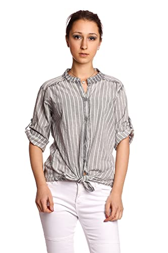 Abbino IG002 Blusas para Mujer - Hecho EN Italia - Colores Variados - Transición Primavera Verano Otoño Mujeres Femeninas Sensibilidad Elegantes Camisas Casual Vintage Fiesta Fashion Rebajas