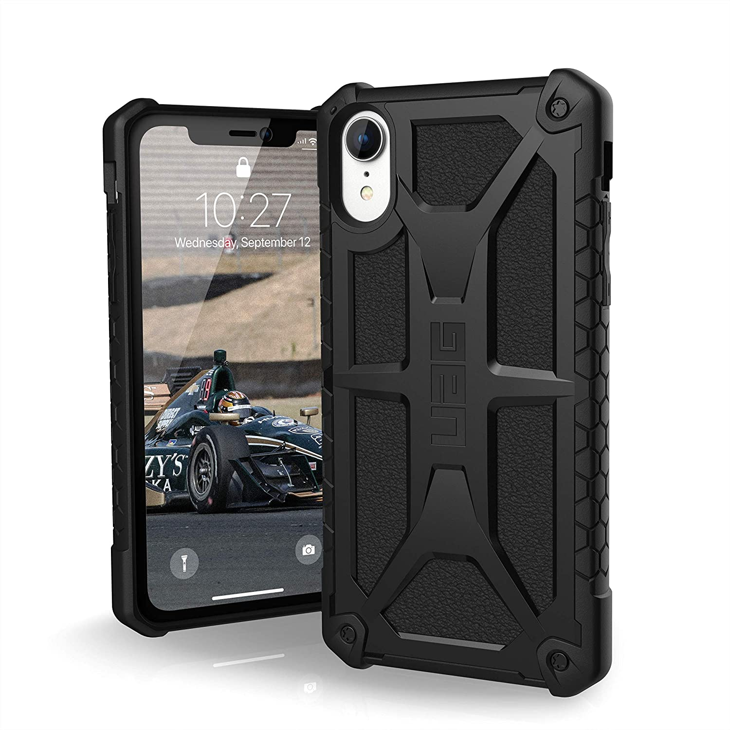 "URBAN ARMOR GEAR UAG iPhone XR [6.1"" Screen] Monarch Feather-Light Rugged [Matte Black] Military Drop Tested iPhone Case"