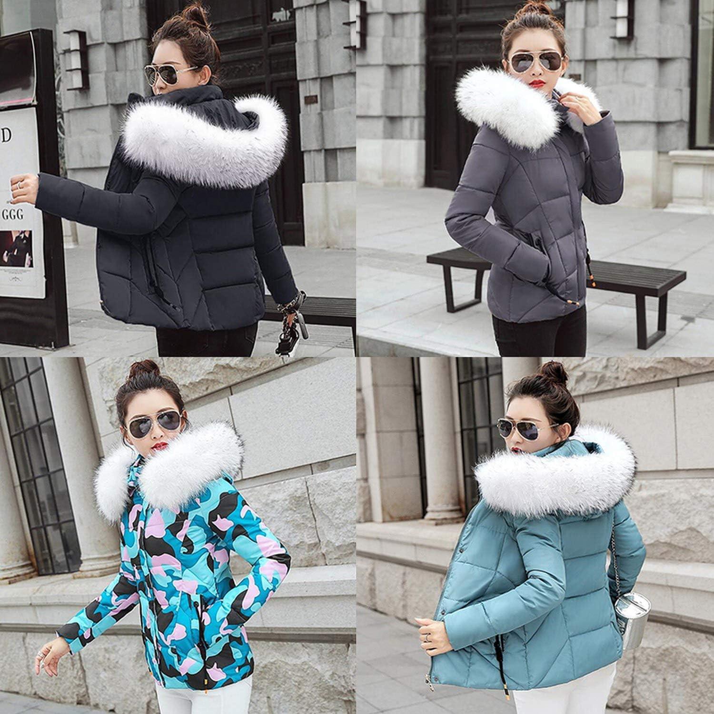 Show-Show-Fashion outerwear-coats Winter Jacket Women Winter Fake Collar Parka Jacket Women Thick Warm Coat,Gray,M