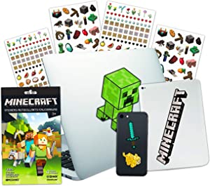 Minecraft Laptop Stickers Ultimate Bundle ~ 10 Premium Jumbo Minecraft Decals for Room Decor, Car, MacBook, Phone and 300 Minecraft Stickers