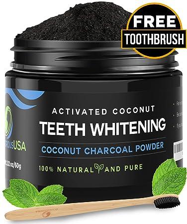 Amazon.com: Polvo blanqueador de dientes de carbón activado ...