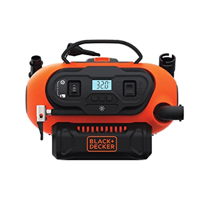 BLACK+DECKER 20V MAX Multi-purpose Inflator, Cordless & Corded Power - Tool Only (BDINF20C) [5Bkhe1001775]