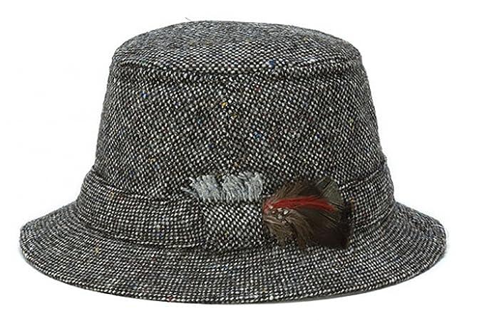 46dbe8b8 Hanna Hats Men's Donegal Tweed Original Irish Walking Hat at Amazon Men's  Clothing store: