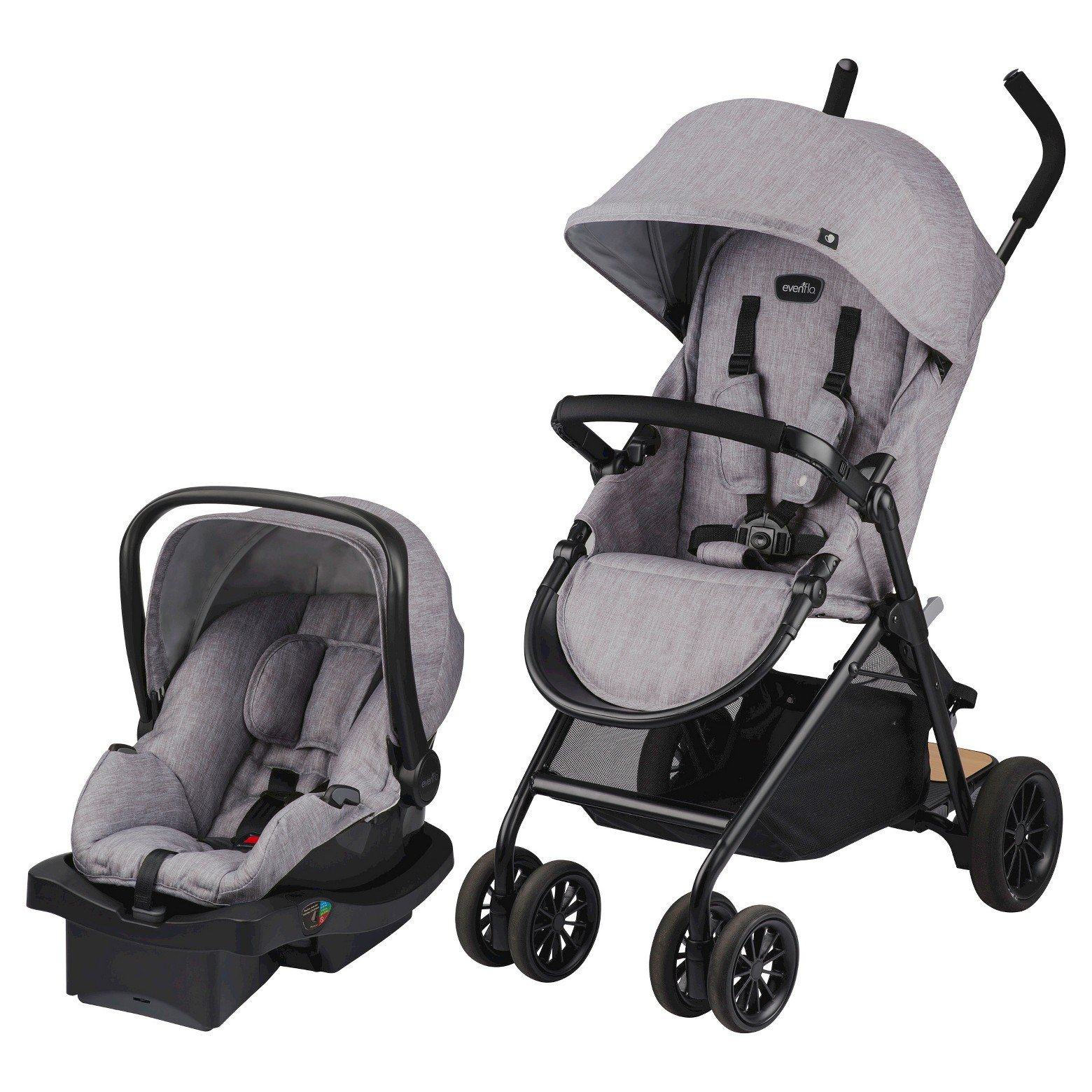 Evenflo Sibby Travel System Mineral Gray