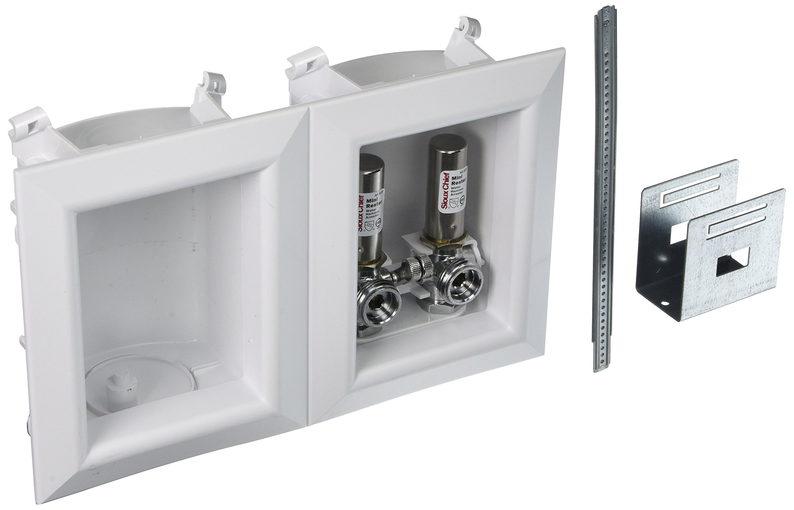 Sioux Chief 696-2313XF Washing Machine Outlet Ox Box- With 1/2 Inch Pex Crimp Connections-With Hammer Arrestors by Sioux Chief