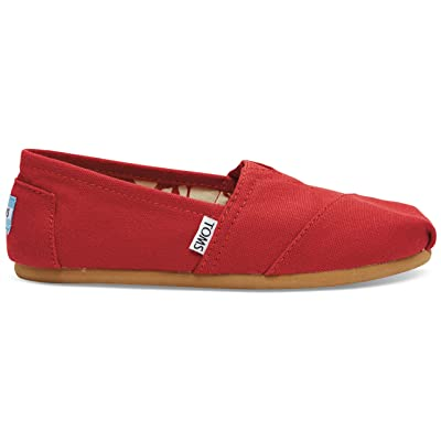 TOMS Women's Classic Canvas Red Slip-on Shoe - 7.5 B(M) US | Loafers & Slip-Ons