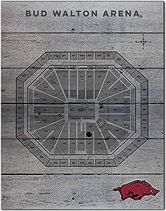 KH Sports Fan 16x20 Pallet Pride - Basketball Seating Chart Arkansas Razorbacks Basketball