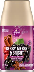 Glade Automatic Spray Refill, Air Freshener for Home and Bathroom, Merry & Bright, 6.2 Ounce Berry