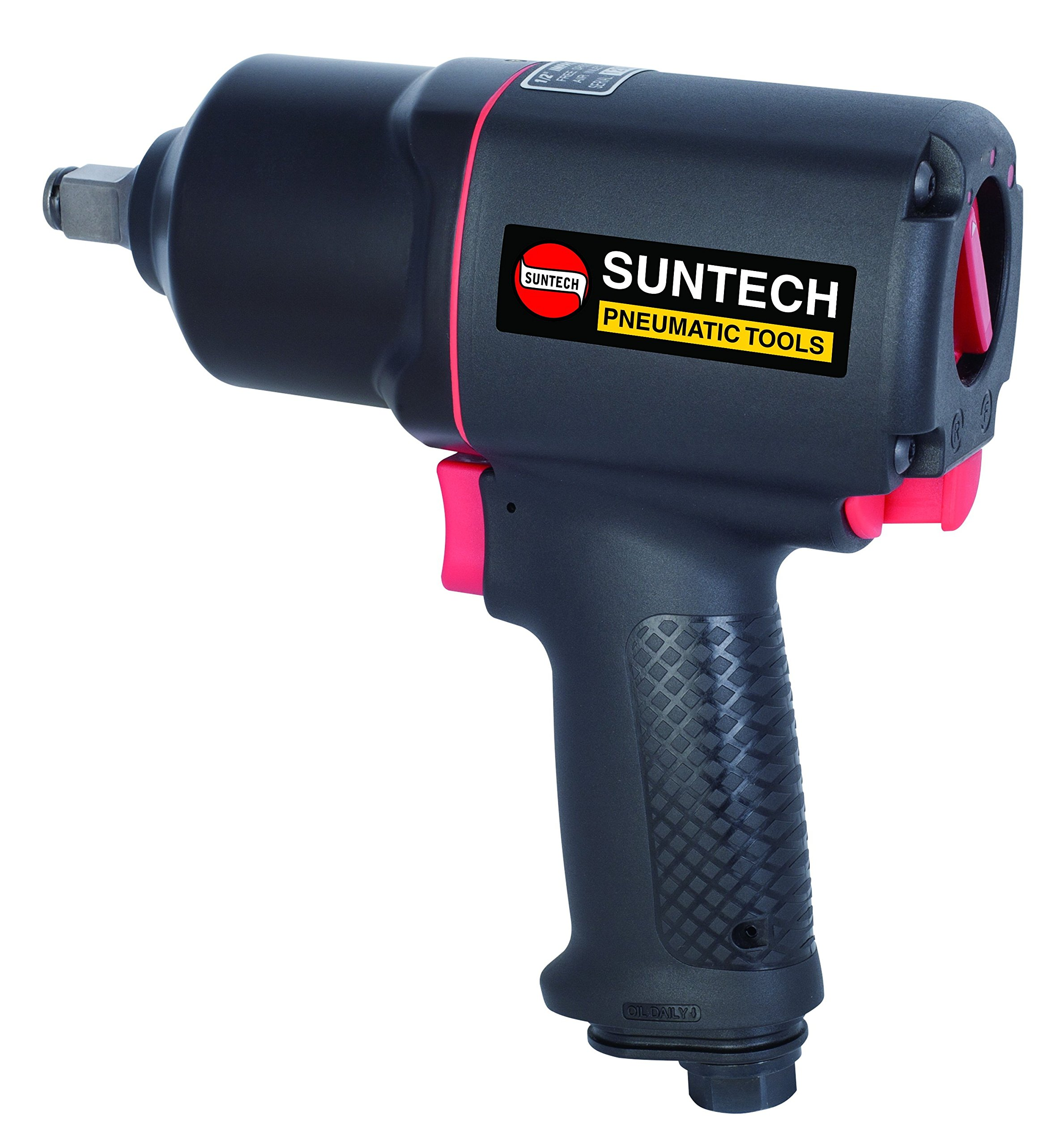 SUNTECH SM-43-4134P Air Impact Wrench with Composite, Black, 1/2''