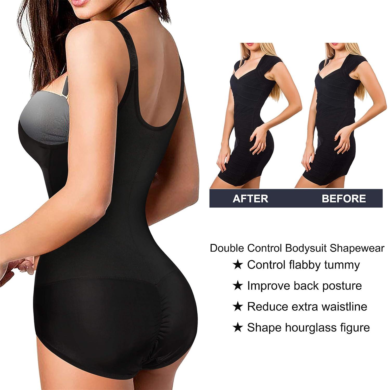 Chumian Moldeador de Pecho Abierto Cors/é para Mujer con Control de la Cintura Cuerpo Completo Ajustado