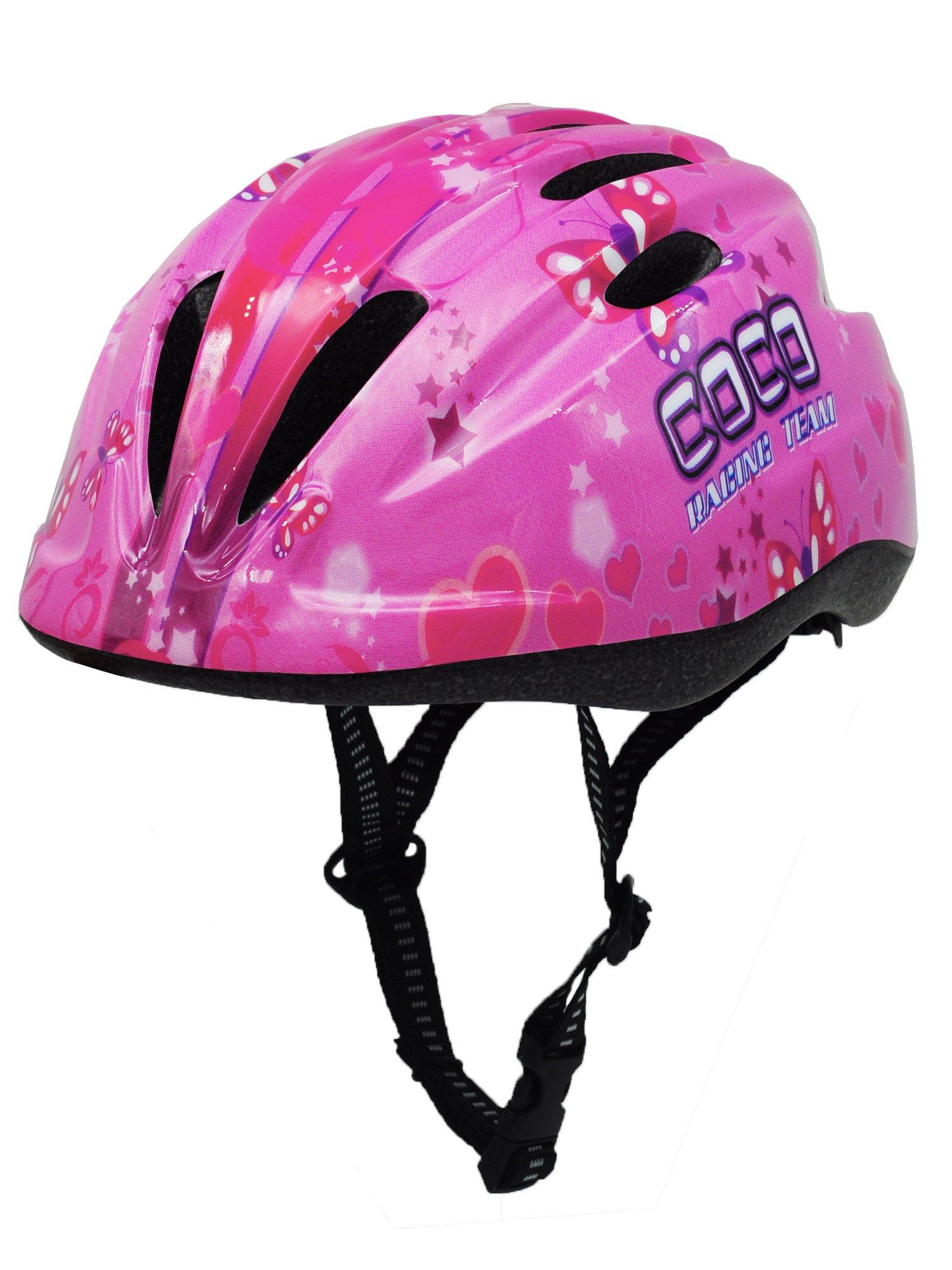 BeBeFun Pink Girl Toddler and Kids Multi-Sport Bike super lightweight Helmet (Violet)