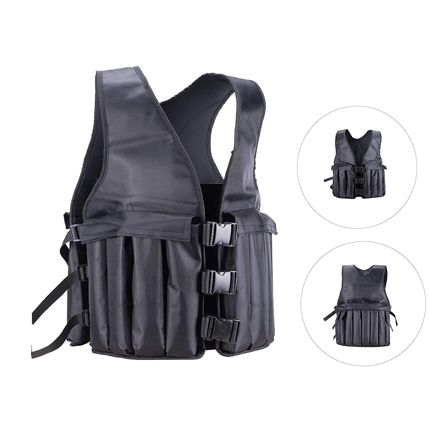 Pinty Fitness Weighted Vest Men 1-20lbs Adjustable for Fitness Workout Cardio Pinty FWV-0020-BK