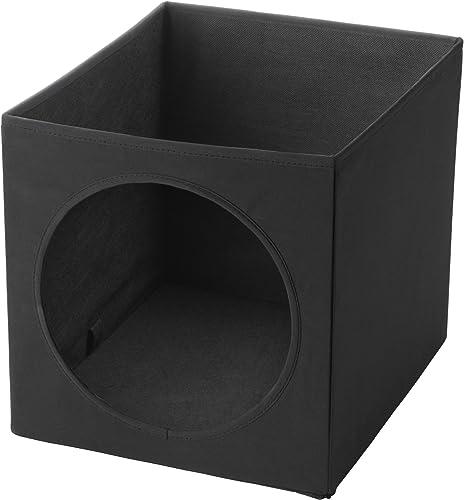 IKEA LURVIG Cat house, Black, 13 x 15 x 13 inch