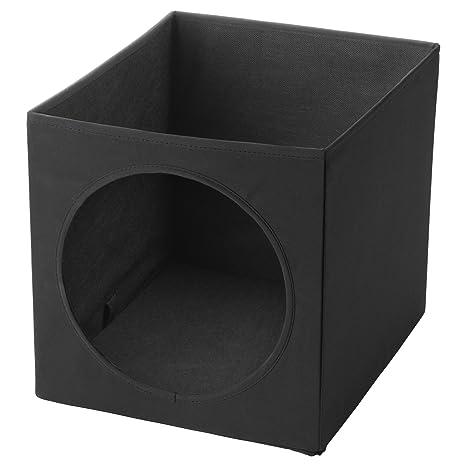 IKEA ASIA LURVIG Casa para Gatos, Color Negro