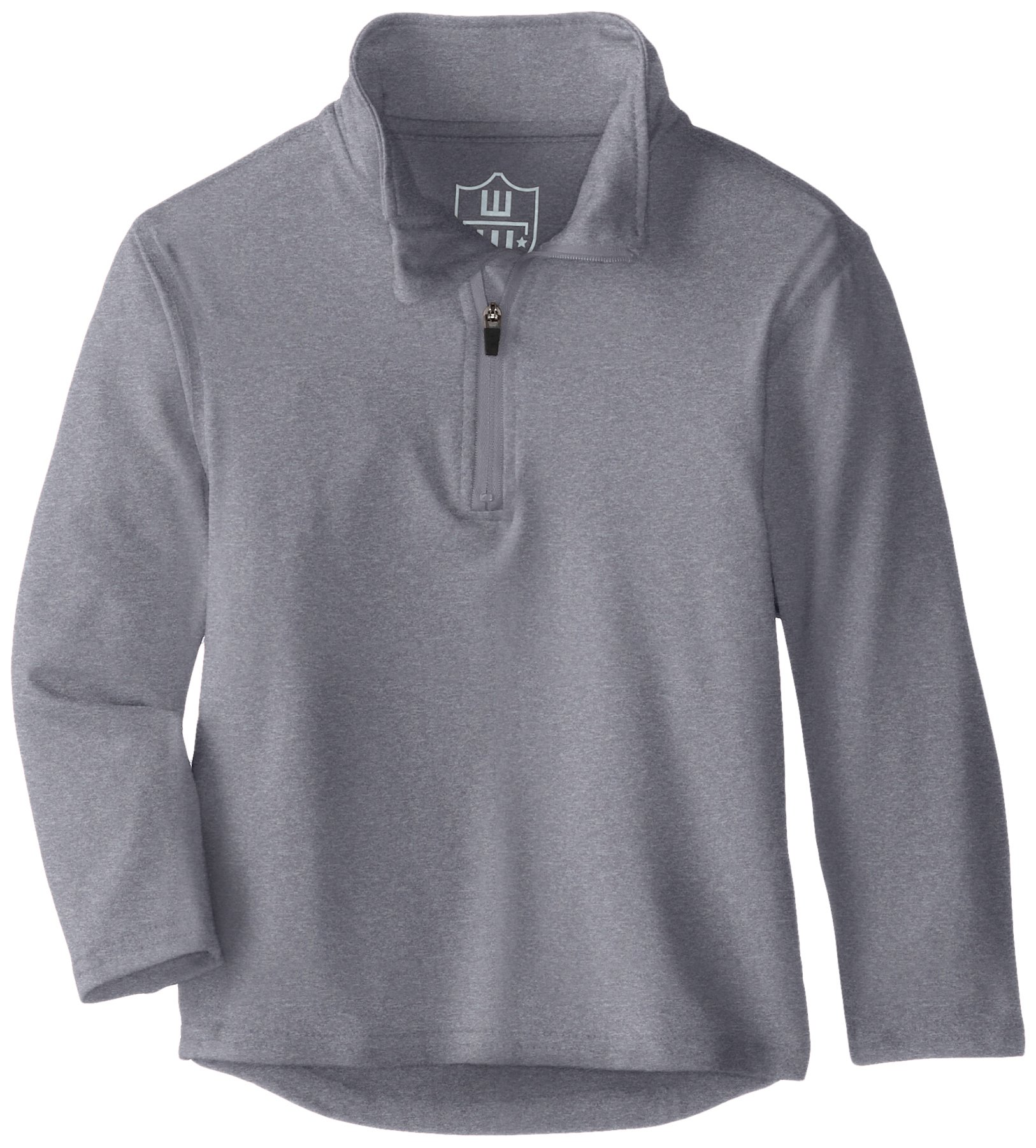 Wes and Willy Boys Performance Pullover Quarter Zip Top, Heather XL