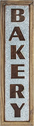American Art D cor Wood Metal Bakery Framed Hanging Sign Rustic Farmhouse Wall Art D cor