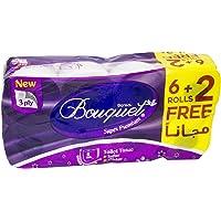 Sanita Bouquet Toilet Tissue, 3ply, 6+2 Free