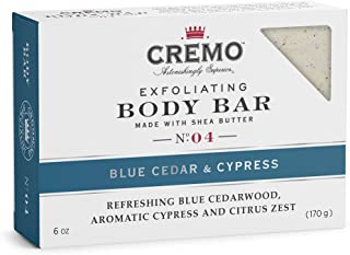 product image for Cremo Exfoliating Body Bar With Shea Butter - Blue Cedar & Cypress, 6 ounce