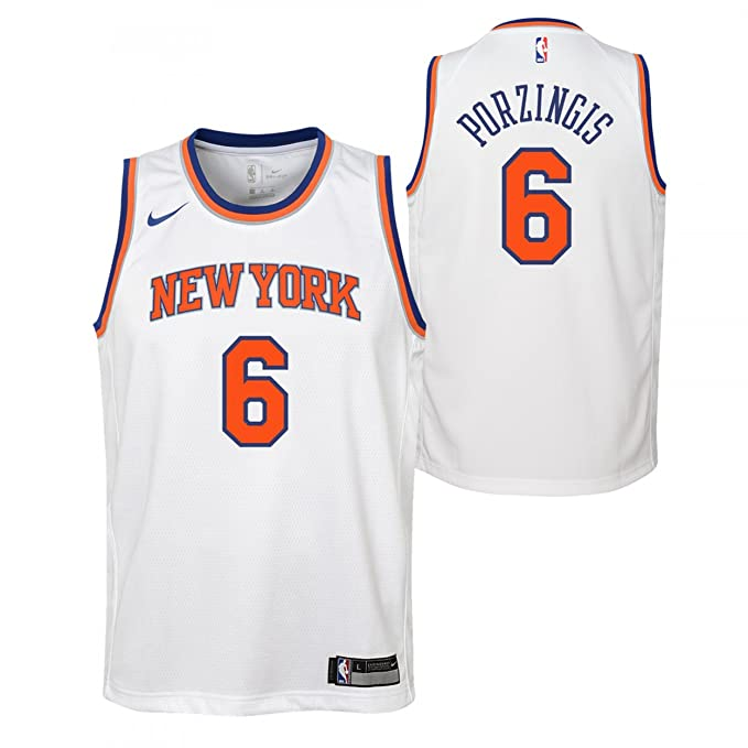 Nike NBA New York Knicks Kristaps Porzingis 6 2017 2018 Association Edition Jersey Official, Camiseta de Niño: Amazon.es: Ropa y accesorios