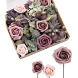 Ling's moment Artificial Greenery Spray Box Set for DIY Wedding Bouquet and Table Centerpieces Arrangement Decoration