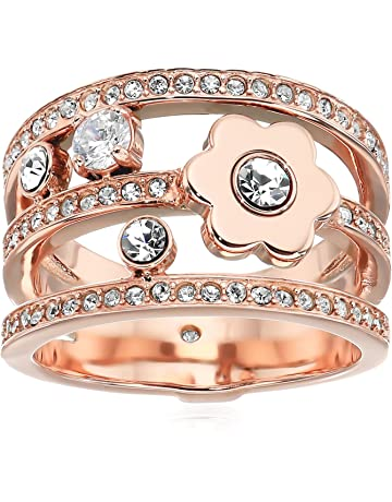 1af47624e222ae Michael Kors Women's in Full Bloom Floral and Crystal Accent Stacked Ring