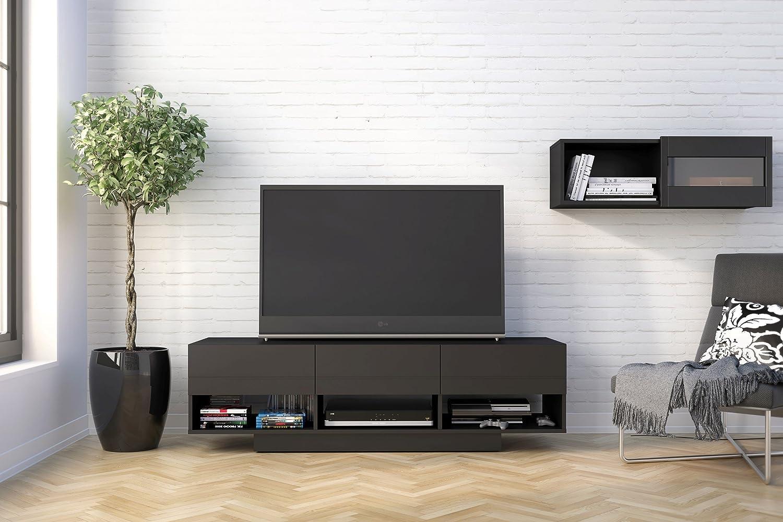 Black 60 Nexera 105106 Stereo TV Stand