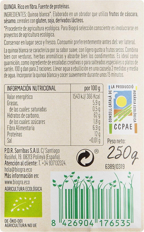 Biográ - Semillas de Quinoa (250 g): Amazon.es: Alimentación y bebidas