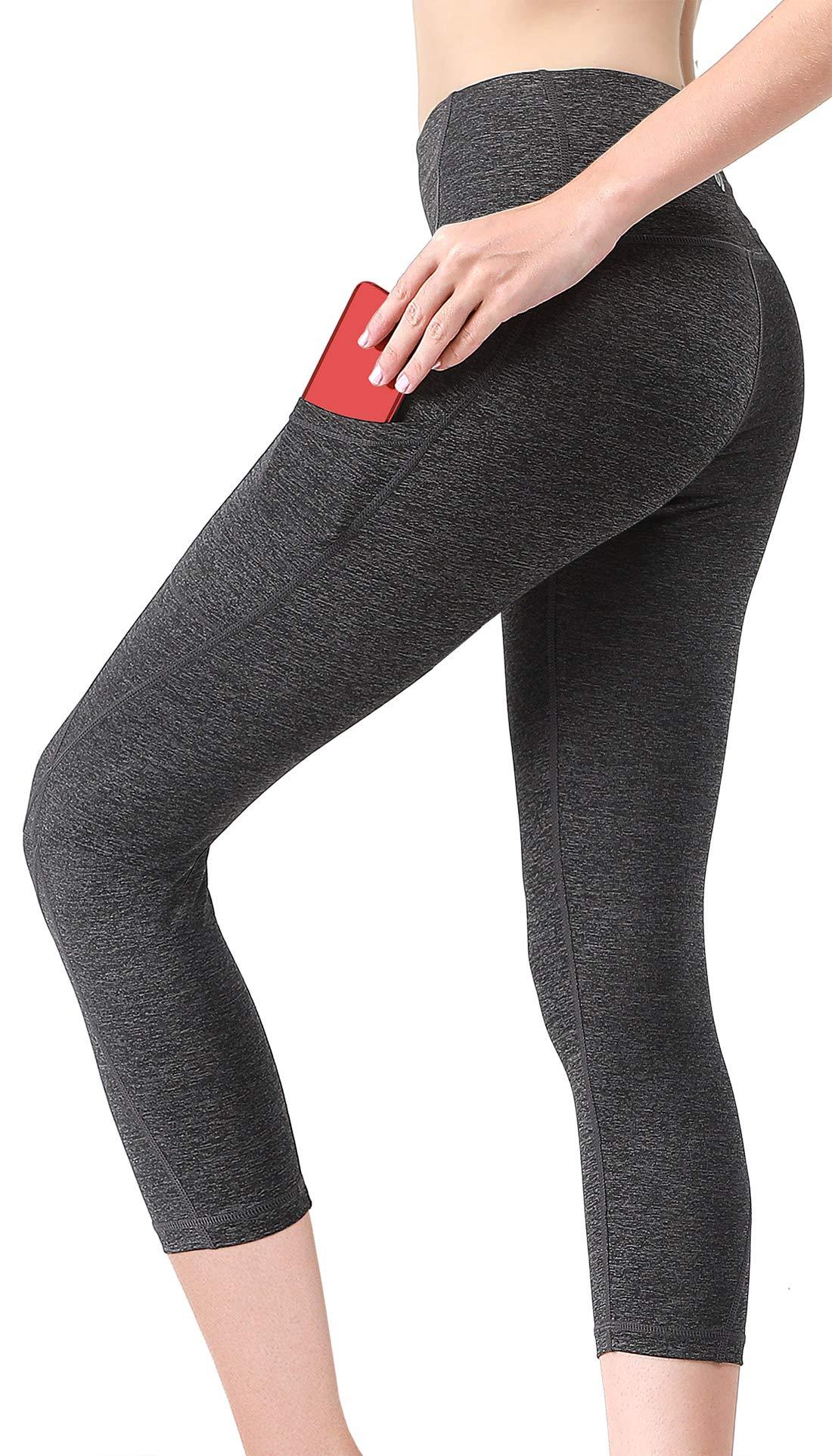 39ac1d3dfaf850 MYoga Women's Yoga Pants Workout Capri Leggings Running Tights Active Pants  w Side Pockets (S, SP_C)