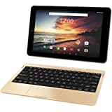 RCA Viking Pro 32GB Quad Core 10.1'' Hdmi Bluetooth Wifi Detachable Keyboard Android 6.0 (GOLD)