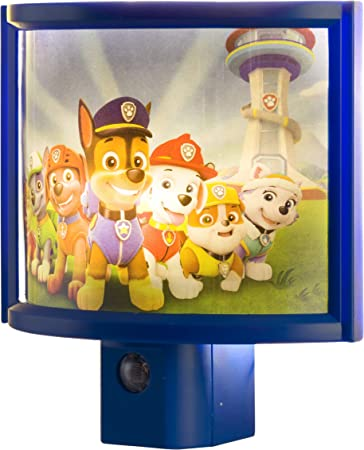 Paw Patrol Nickelodeon Boys Girls Bedroom LED Night Light Home Decor Chase New