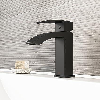 Amazon Com Vigo Vg01015mb Satro Modern Bathroom Faucet Single Hole