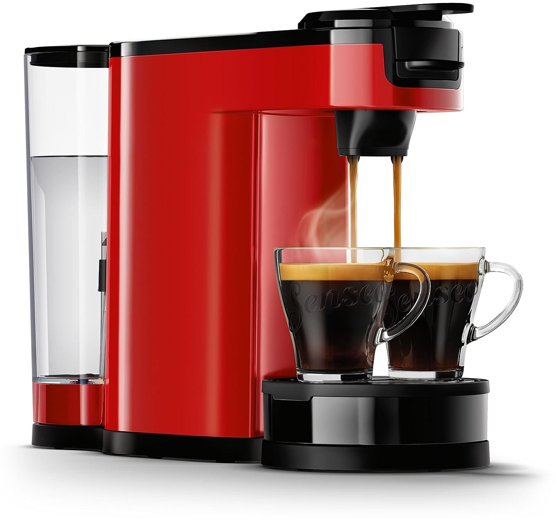 Senseo HD6592/80 - Cafetera (Independiente, Máquina de café en cápsulas, 1 L, De café molido, 1450 W, Negro, Rojo)