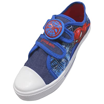 'Marvel Spiderman' Spiderman Boys Canvas Pumps/Shoes Size USA 8/UK 7