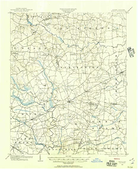 Amazon Com Yellowmaps Kenly Nc Topo Map 1 62500 Scale 15 X 15