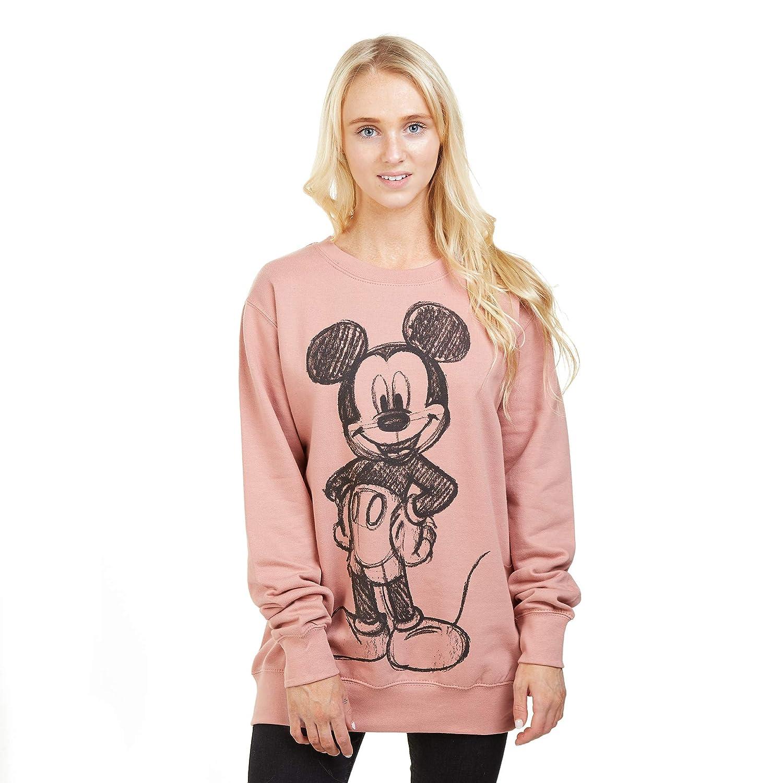 Disney Mickey Forward Sketch Felpa Donna