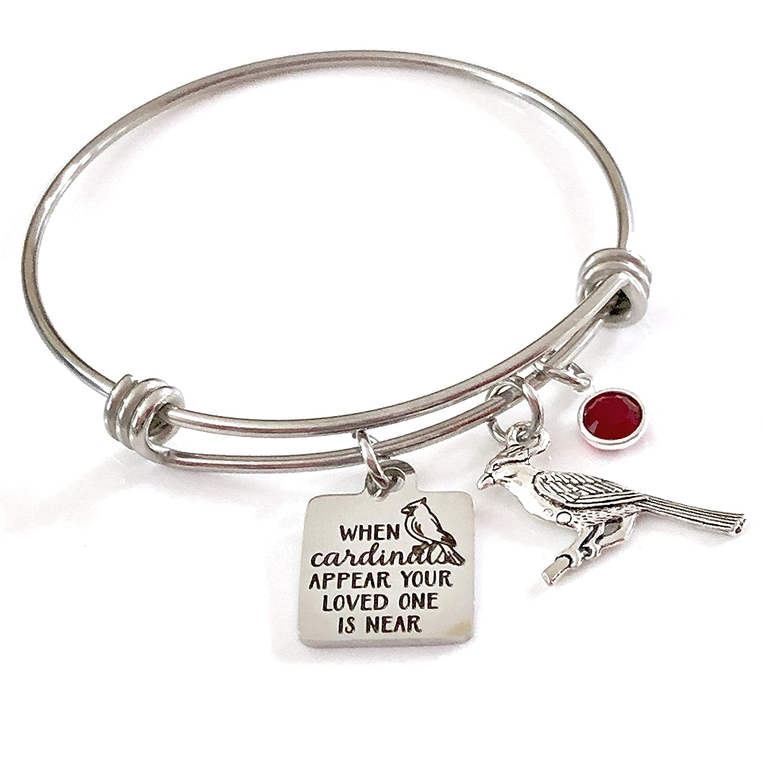 17600cccedde6 Memorial Jewelry, When Cardinals Appear Your Loved One is Near Bangle  Bracelet