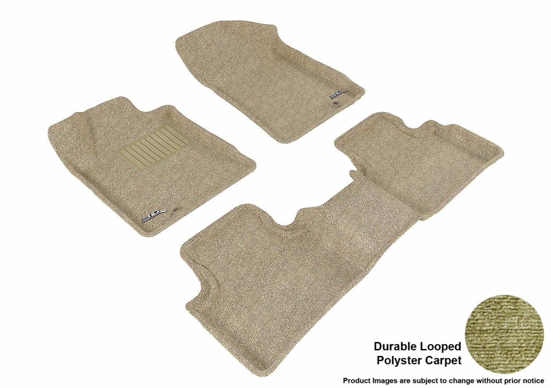Black L1NS03002209 Classic Carpet 3D MAXpider Complete Set Custom Fit Floor Mat for Select Nissan Maxima Models