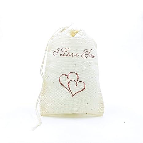 Amazon.com: Corazones de amor favor bolsa de San Valentín ...