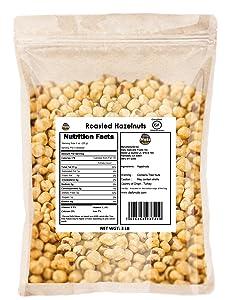 Blanched / Roasted Hazelnuts 3 LB  UNSALTED  FILBERTS   NO SKIN   KOSHER   CERTIFIED GLUTEN FREE   NON-GMO   PALEO
