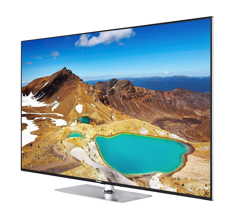 Telefunken L55U405F4CWH 139 Cm 55 Zoll Fernseher 4K Ultra HD Smart TV Triple Tuner Schwarz Amazonde Heimkino Video
