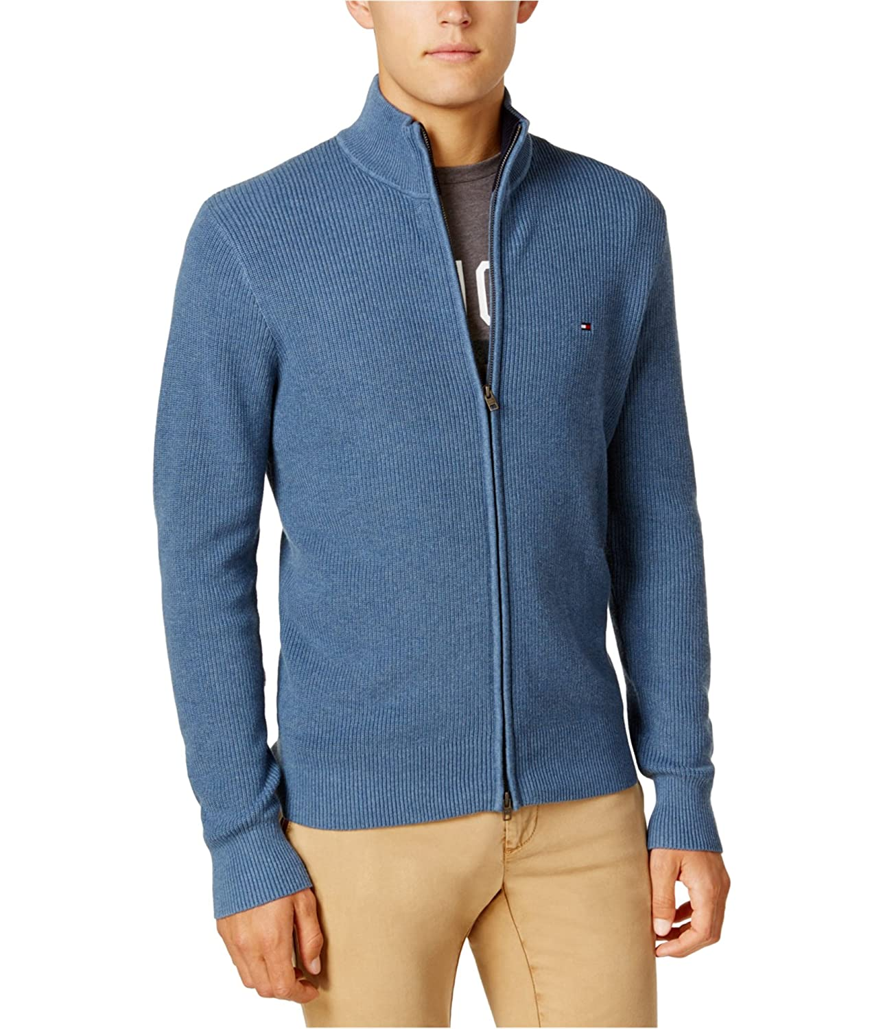 Tommy Hilfiger Mens Textured Ls Cardigan Sweater