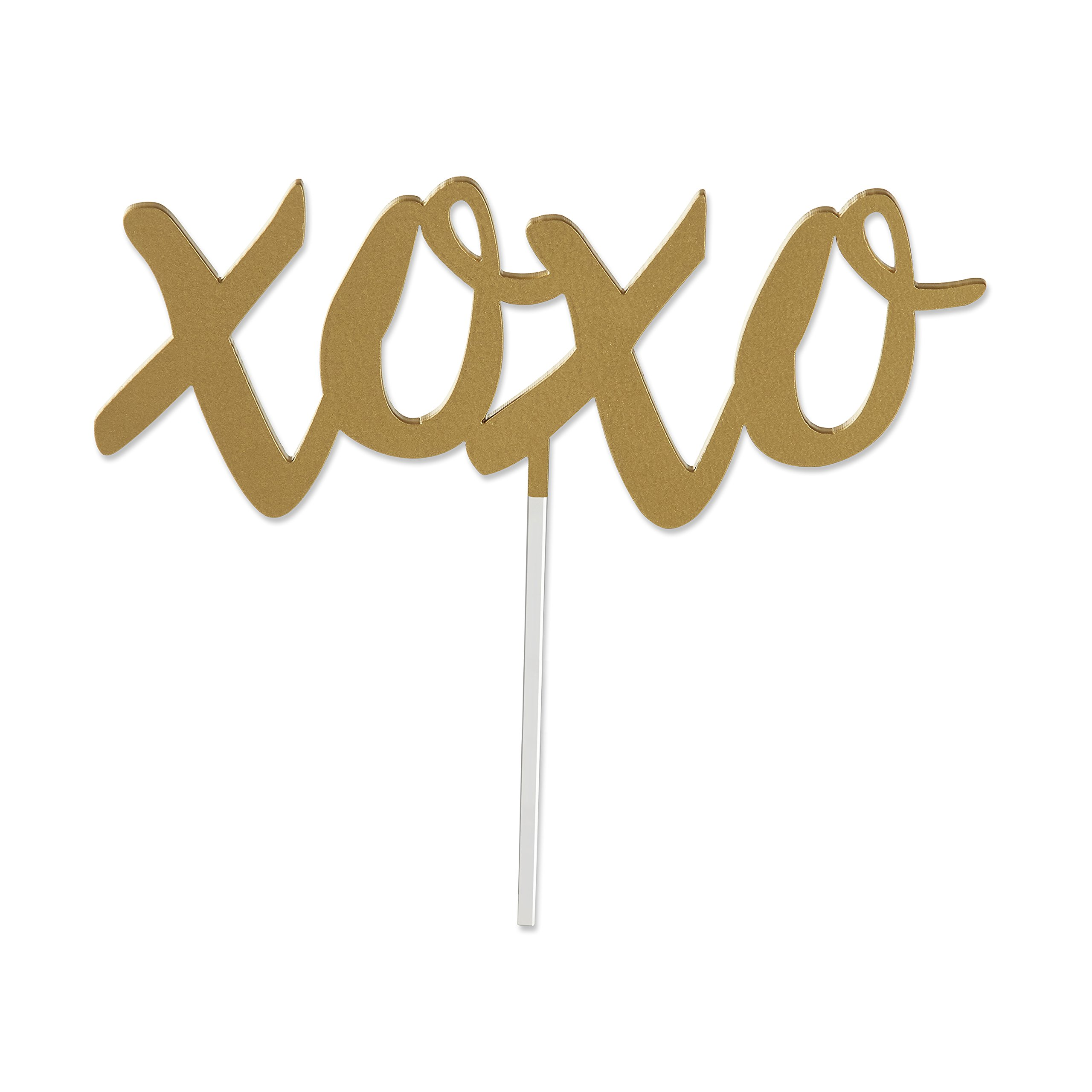8 Gold XOXO Cake Toppers