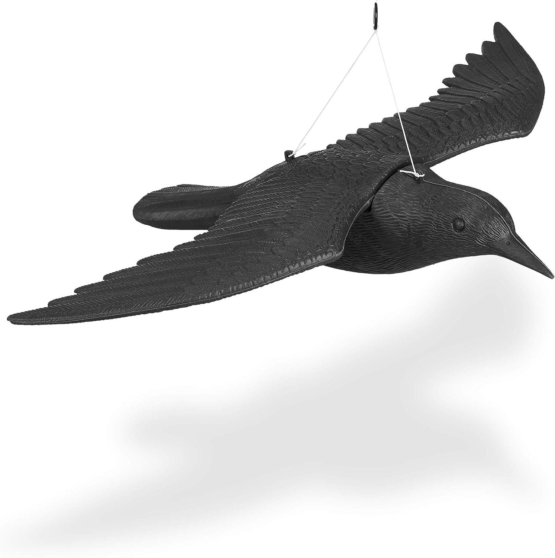 Taubenschreck Krähe Rabe Vogelschreck Taubenabwehr 3 Modelle Vogelscheuche