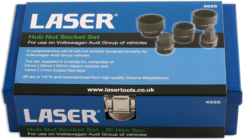 Laser 4925 Douilles a choc 12 pans 1//2 24 30 32 btr 6 pans 14 17 choc