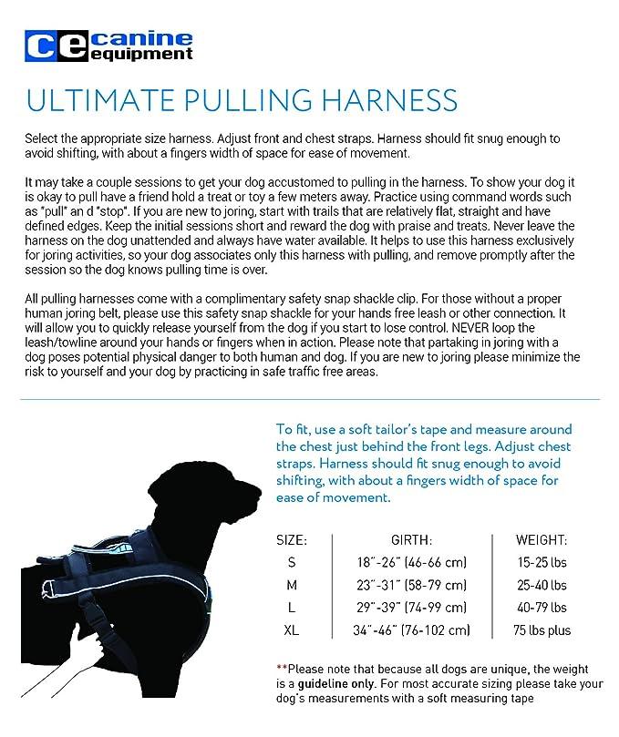 Amazon Canine Equipment Ultimate Pulling Dog Harness Large
