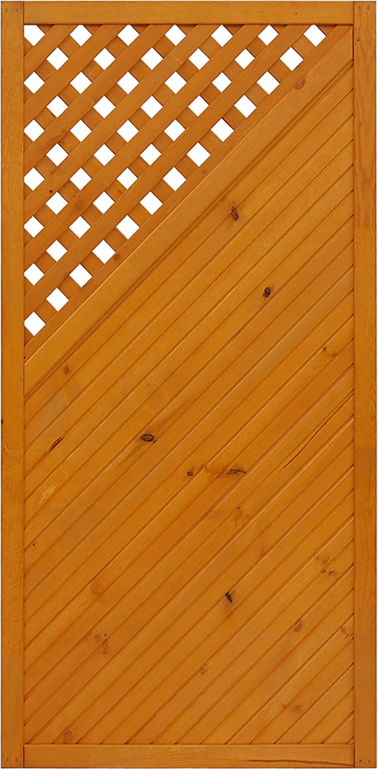 Andrewex wooden fence, fencing panel, garden fence, privacy 180 x 90, varnished, pinie